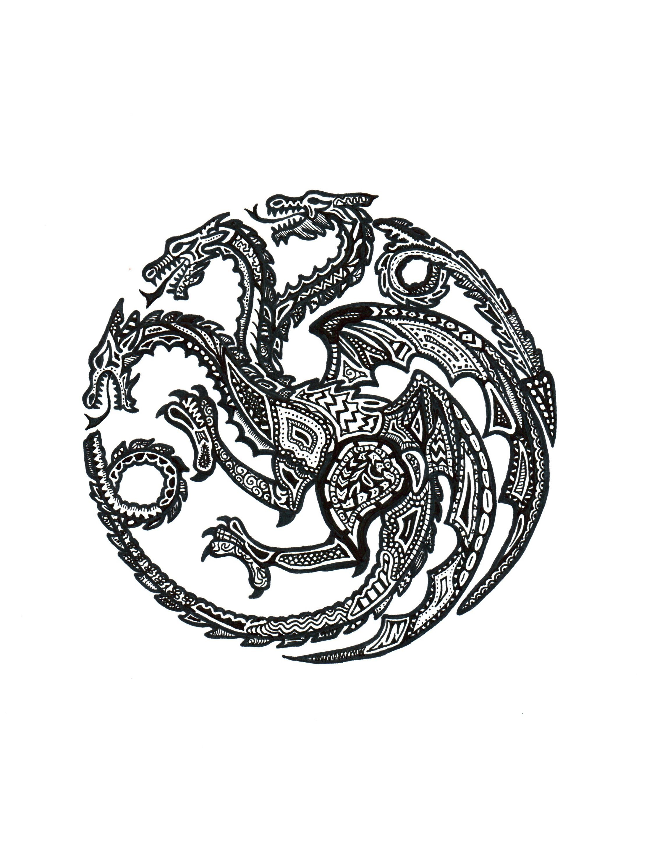 Targaryen | Game of thrones | Pinterest | Wand malen, Lieder und ...