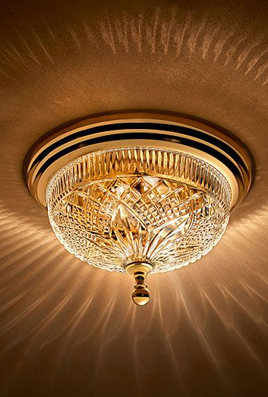 Waterford Crystal Beaumont Brass 12 Quot Ceiling Fixture Ceiling Fixtures Ceiling Lights