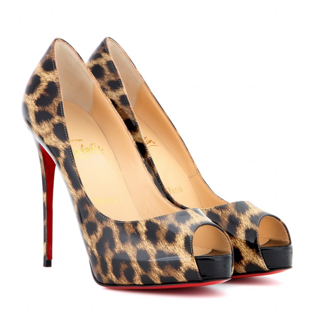 742612655da4a2 CHRISTIAN LOUBOUTIN New Very Privé 120 patent leather peep-toe pumps Black  Patent Leather Shoes