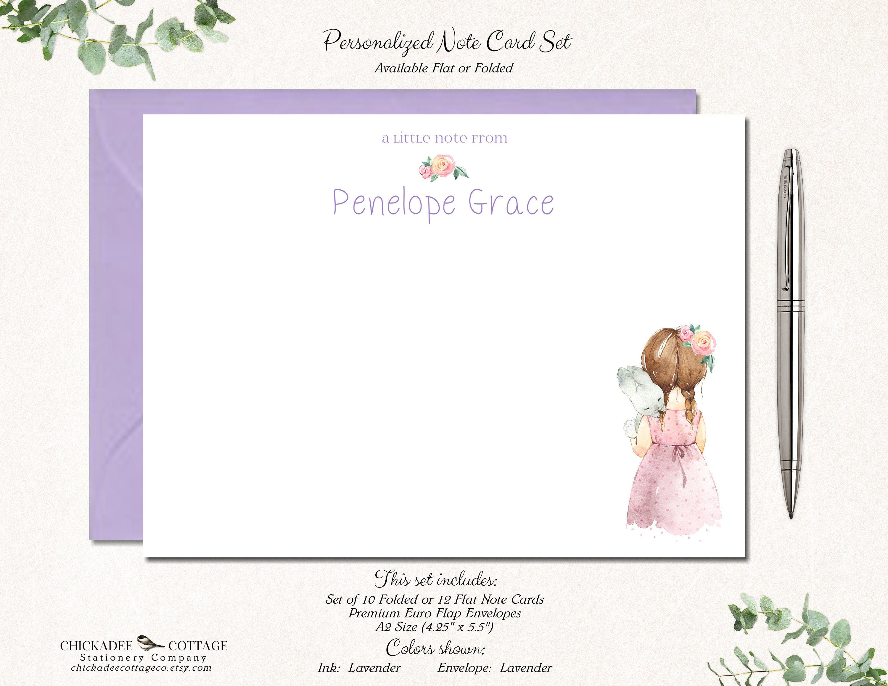 Note Card Kids Personalized Stationery Stationary. Personalized Thank You Notes for Kids Personalized Stationery Kids Thank You Card
