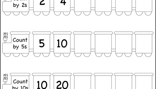 Skip Counting by 2, 5 and 10 – Worksheet |