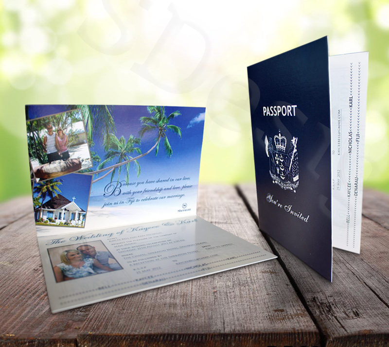 Custom New Zealand Passport Invitation For Fiji