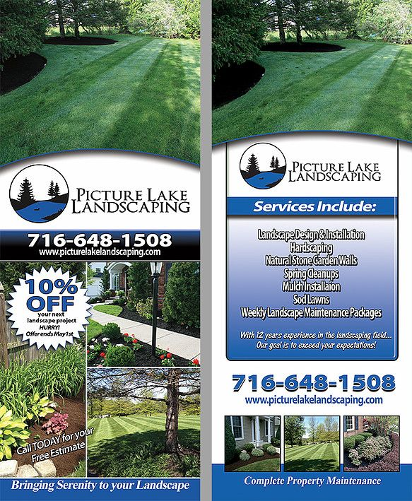 Lawn Care And Landscaping Door Hangers Lake Landscaping Landscape Design Lawn Care