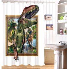 High Quality Unique Dinosaur Print 3d Shower Curtain Shower