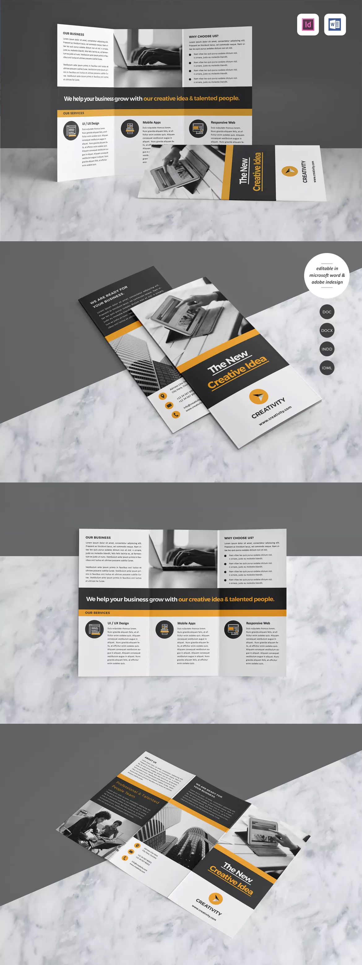 Brochure Template InDesign INDD - A4 | Inspiration | Pinterest ...