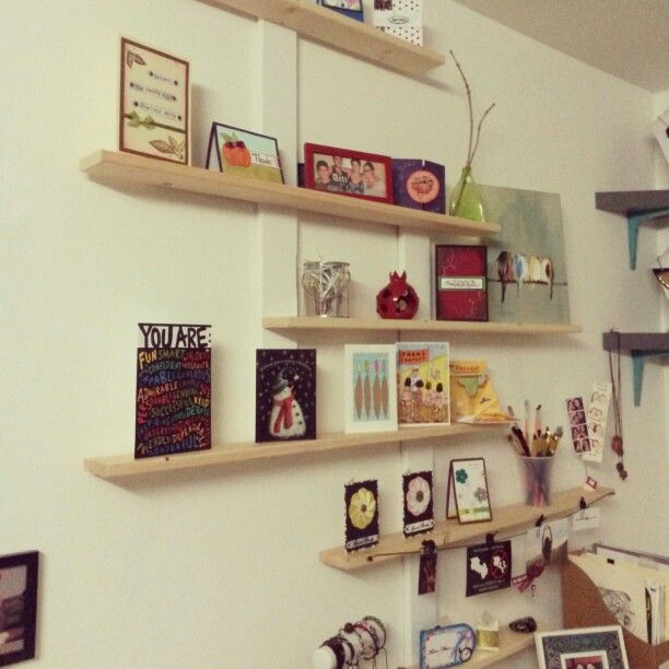 I Made These Display Shelves Using Extra Bed Base Slats