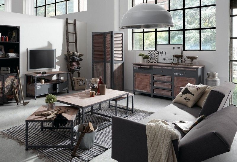 comment int grer la table basse style industriel dans le. Black Bedroom Furniture Sets. Home Design Ideas