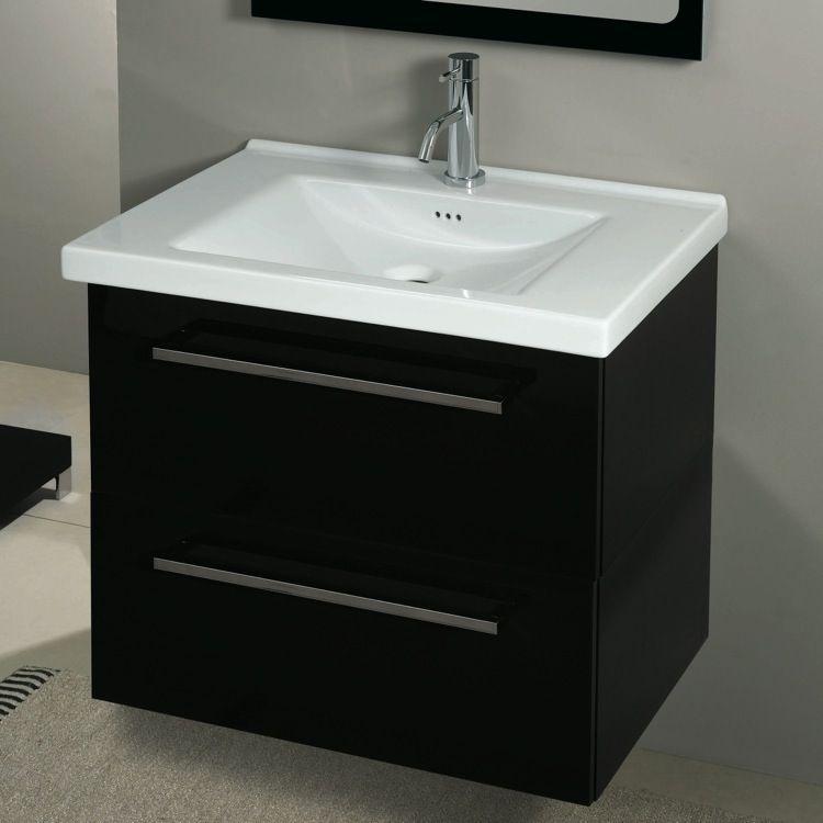 Bathroom Vanity, Iotti FL8C, 2 Drawers Vanity Cabinet with Self ...