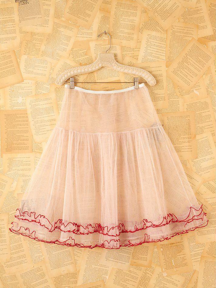 pink crinoline skirt