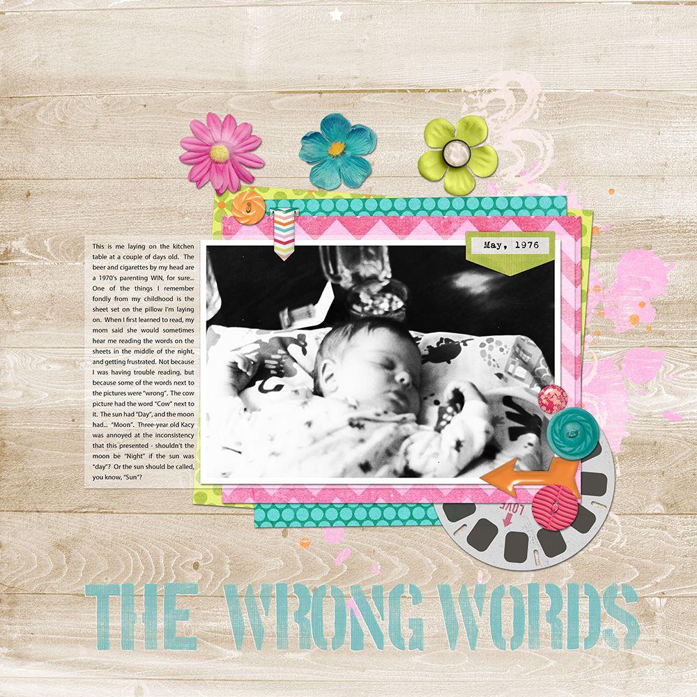 Scrapbook ideas words - The Wrong Words Scrapbook Com Scrapbook Digiscrap
