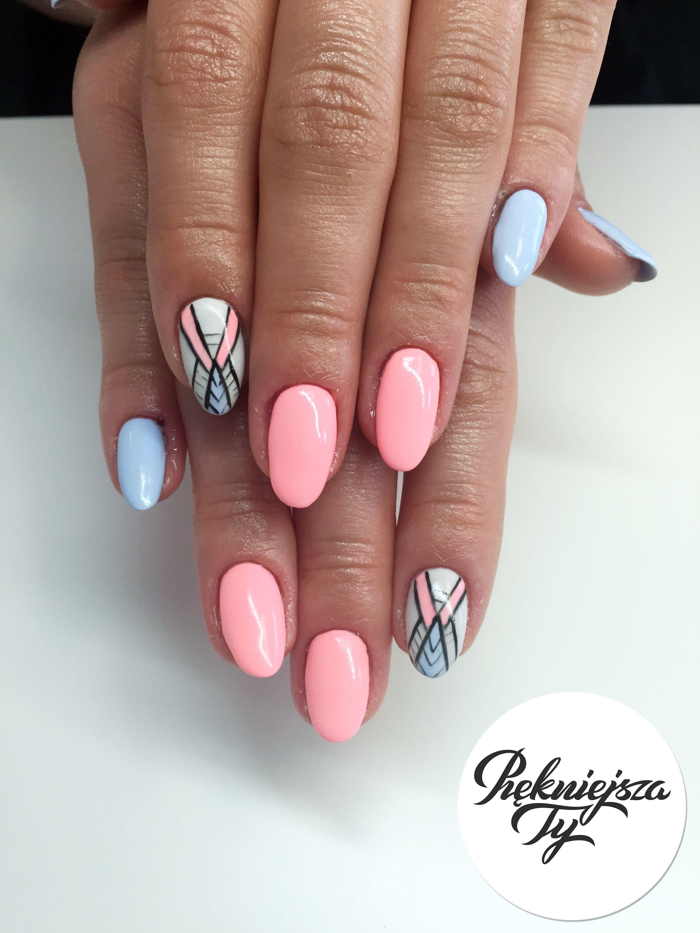 Manicure Hybrydowy With Images Manicure Paznokcie Kolorowe