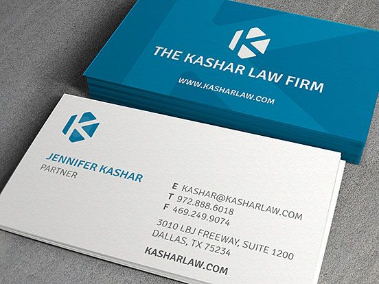 Kashar Law Firm Business Cards The Design Inspiration