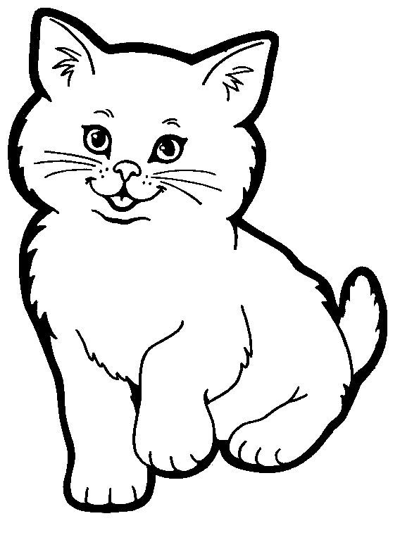 Cat Coloring Pages: Here is a small collection of cute cat coloring ...