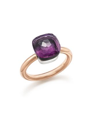 Pomellato Nudo Classic Ring with Amethyst in 18K Rose and White Gold | Bloomingdale's