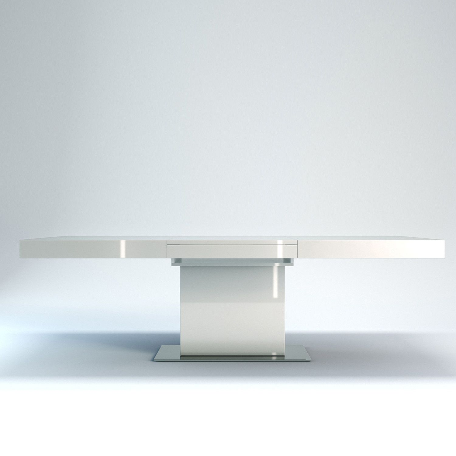 astor dining table white lacquer by ted toledano i can t wait