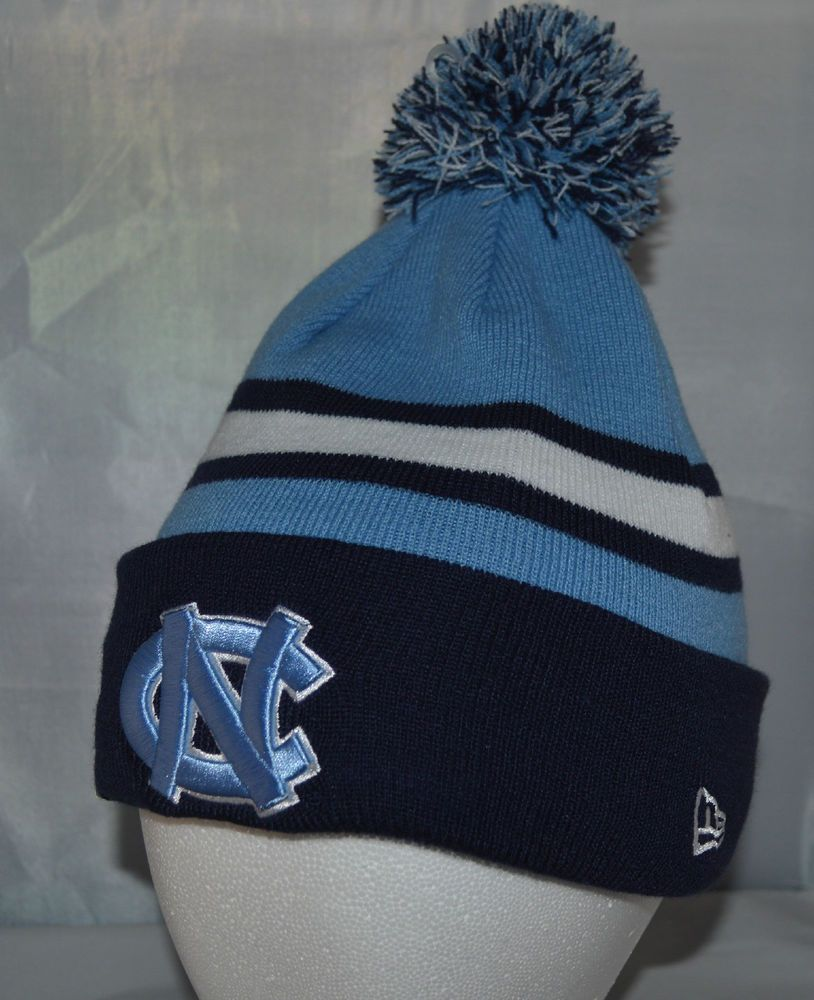 info for 65b24 c2f4c UNC Tarheels Sports Knit Pom Top Cuffed Beanie Winter Cap Hat Authentic New  Era  NewEra  NorthCarolinaTarHeels