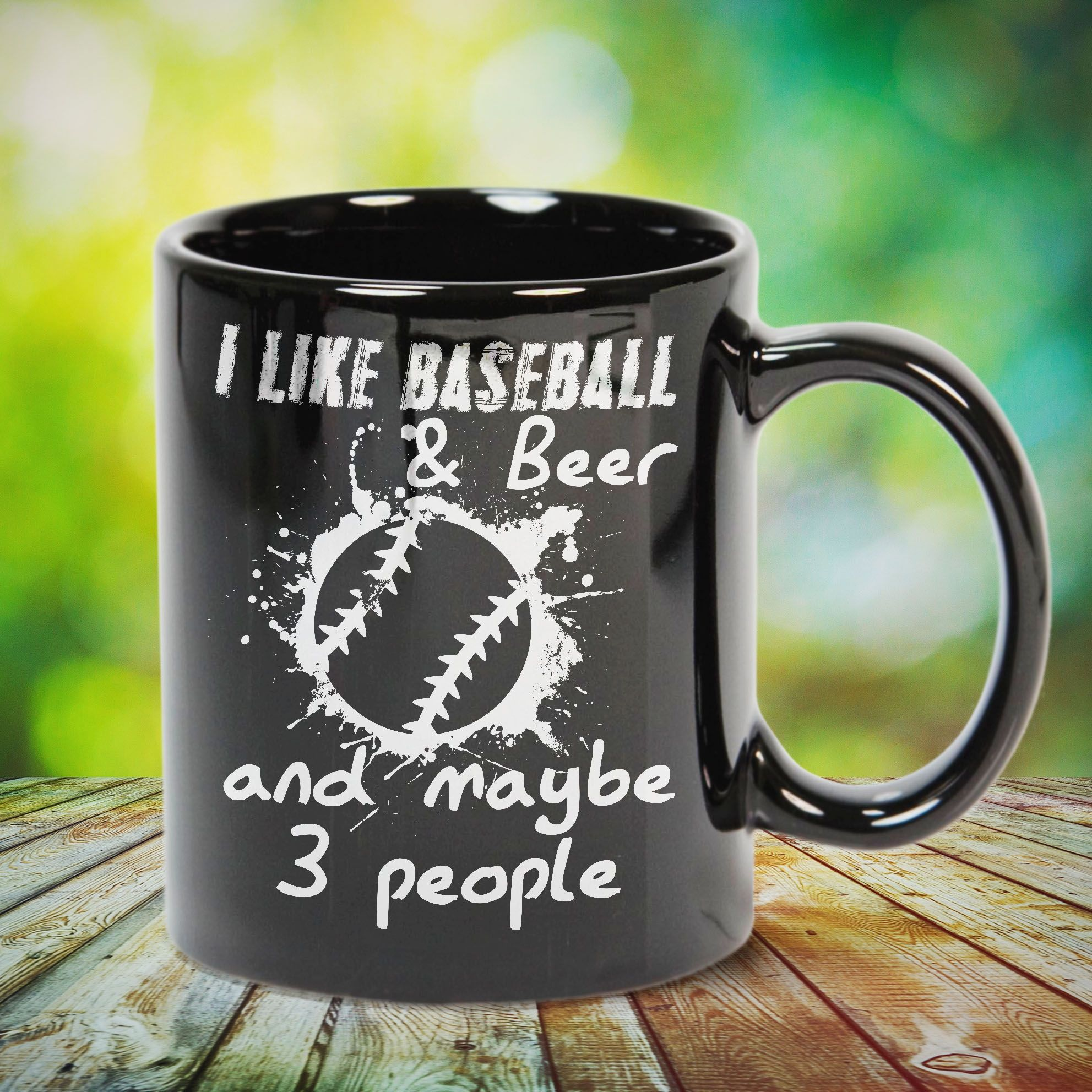 I Like Baseball And Beer And Maybe 3 People Great Gift For Family Friends Or Any Men Women Girls Boys Kids Gifts For Family Baseball Baseball Game Outfits