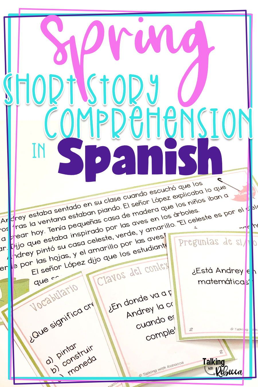 Short Story Comprehension Is Fun For Your Students In This Resource Full Of Spring Themed Speech Therapy Materials Speech Therapy Activities Writing Worksheets [ 1350 x 900 Pixel ]