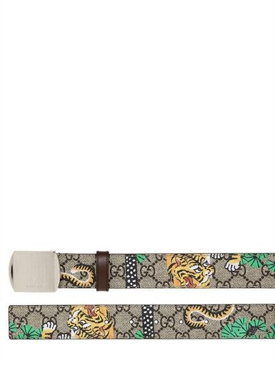 c822a2ffb GUCCI 35Mm Bengal Printed Gg Supreme Belt, Beige. #gucci #belts ...