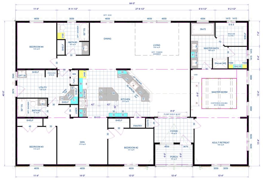 Oakland Triple Wide Hud Manufactured Home Floor Plans