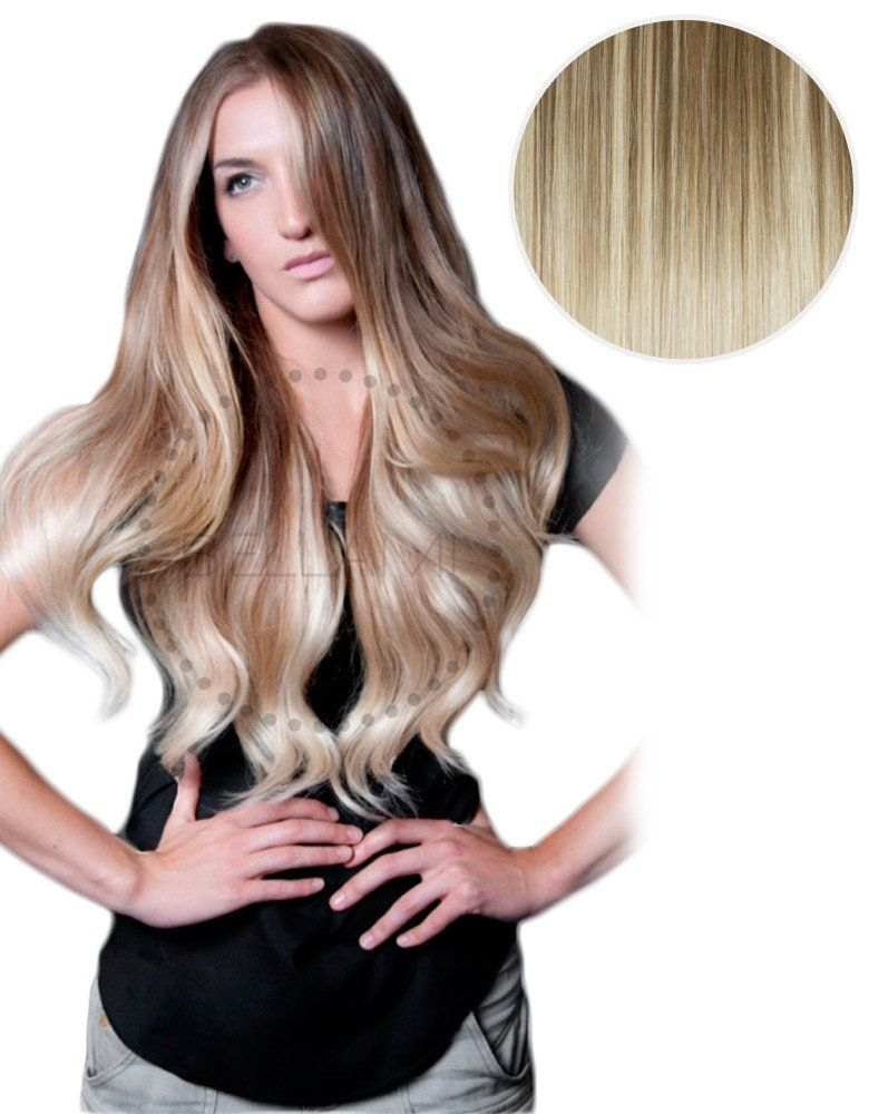 Balayage 160g 20 Hair Extensions 8 Ash Brown 60 Ash Blonde