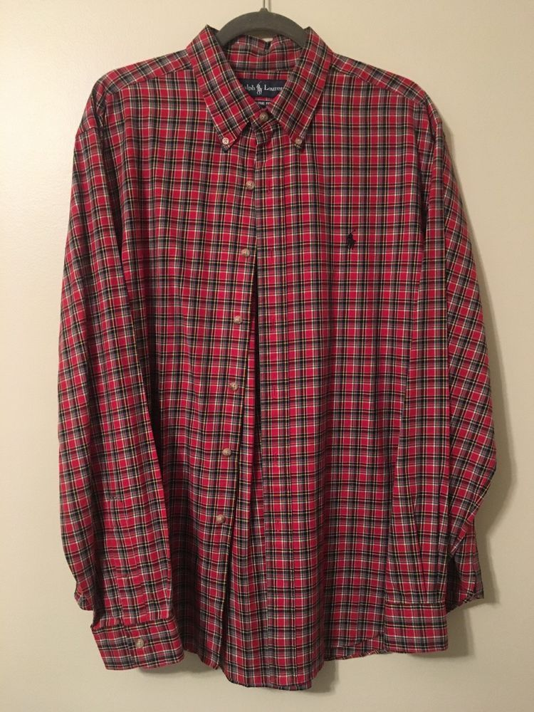 bfcdd697ced23 Mens Polo Ralph Lauren Plaid Long Sleeve Button Down Shirt Size  XL   fashion  clothing  shoes  accessories  mensclothing  shirts (ebay link)
