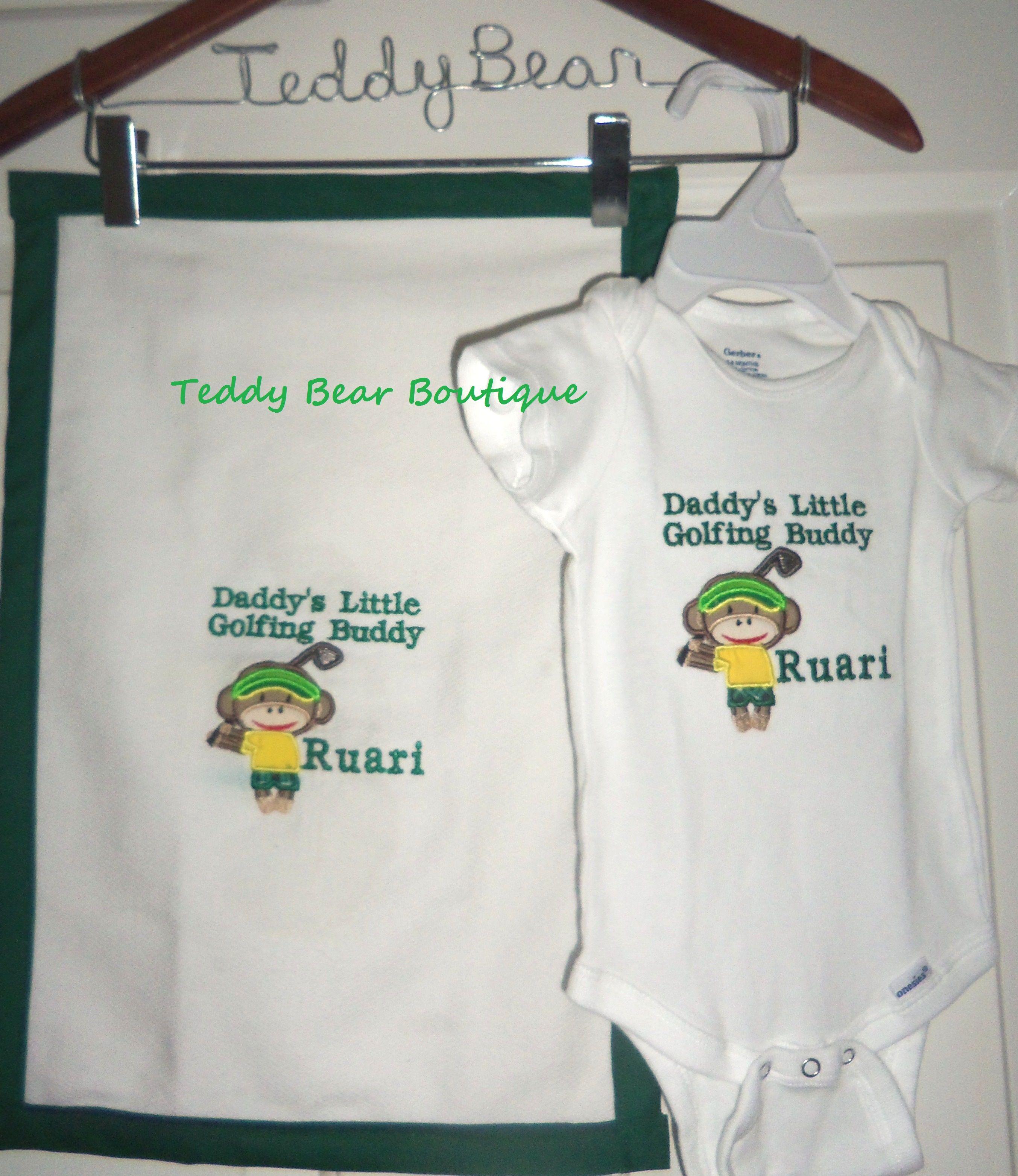1c66d695 Daddy's Golfing Buddy onesie and matching burp cloth. | Universal ...