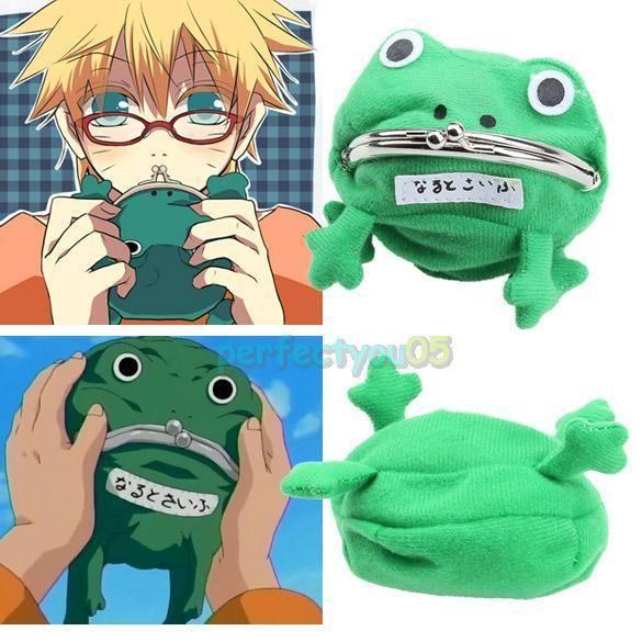 Naruto Frog Shape Uzumaki Wallet Coin Purse Green Cosplay Plush Cute ❤