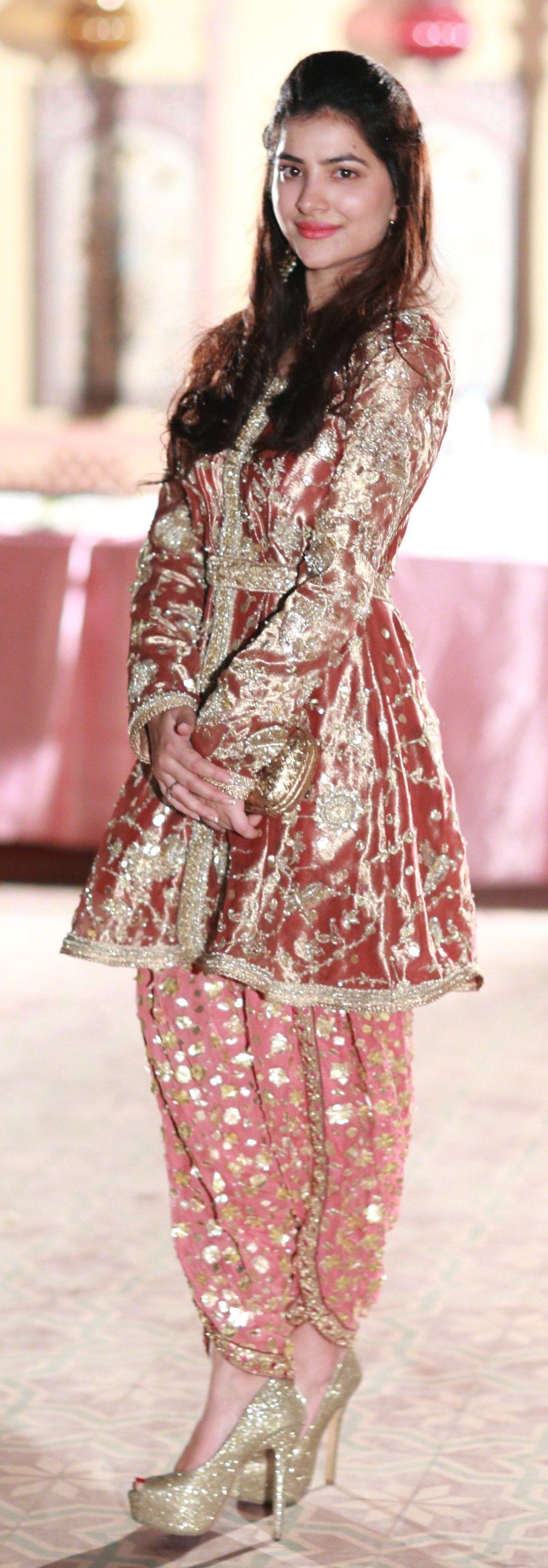 We love the peplum top and dhoti shalwar combo! | weddings ...