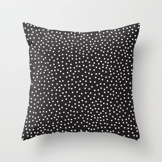Dots Throw Pillow by Priscila Peress