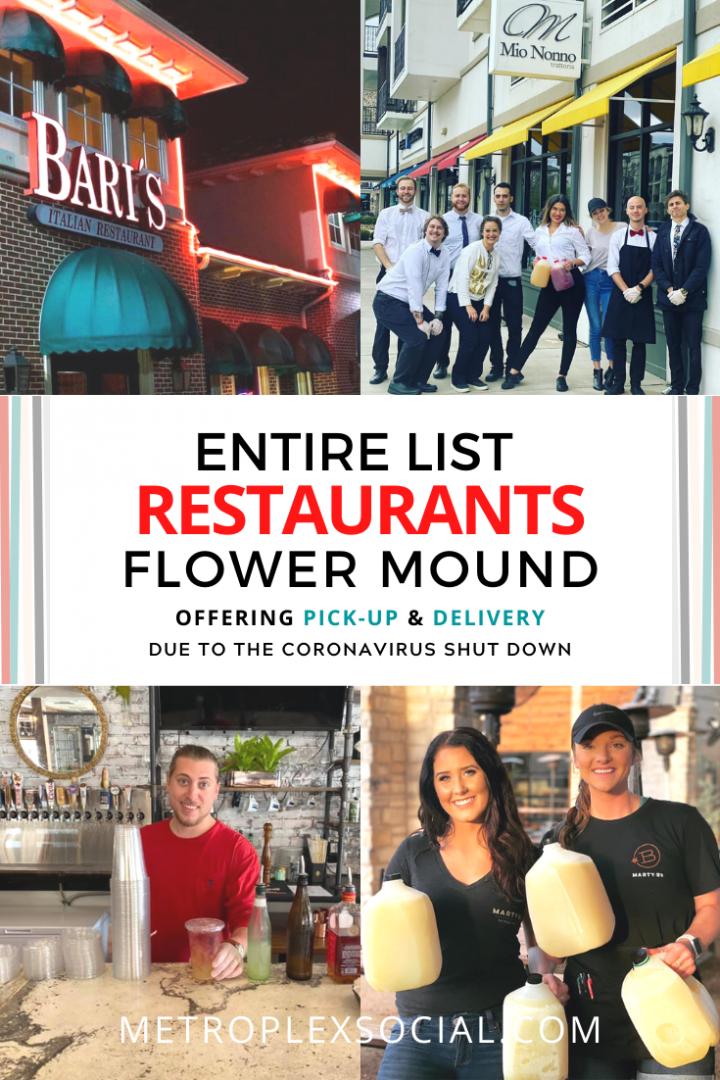 ENTIRE List Of Restaurants In Flower Mound Offering Take