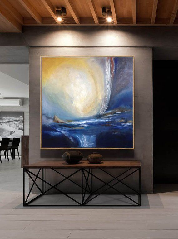 Abstract wall art painting decor canvas oil  also rh pinterest
