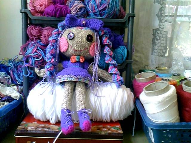 Amigurumi Doll Lalaloopsy Pattern : My first ever crochet doll project lalaloopsy for my daughter