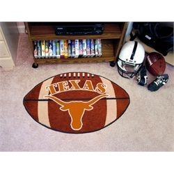 FANMATS NCAA University of Texas Longhorns Nylon Face Mascot Rug