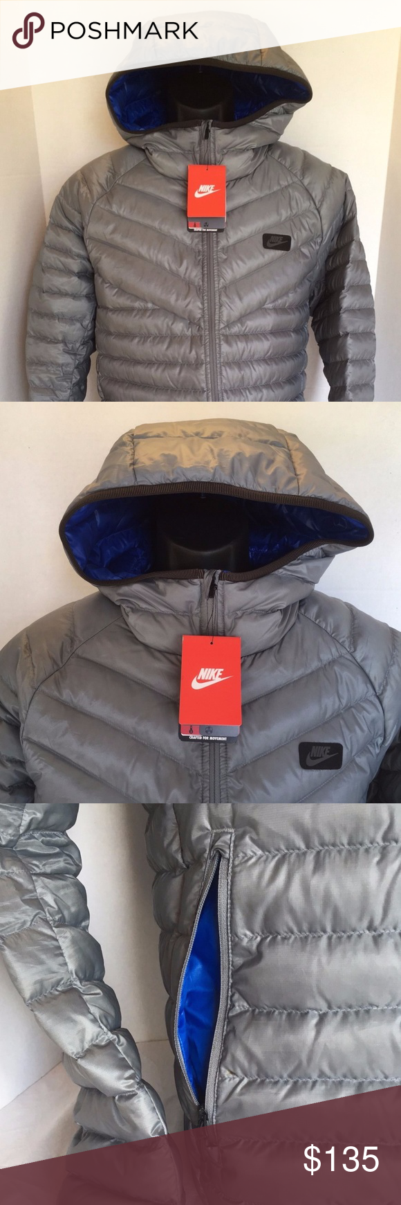 7c6561243af7 NEW NIKE HOODED GUILD 550 DOWN 693533 065 JACKET Nike Sportswear 550 Fill Down  Hooded Jacket