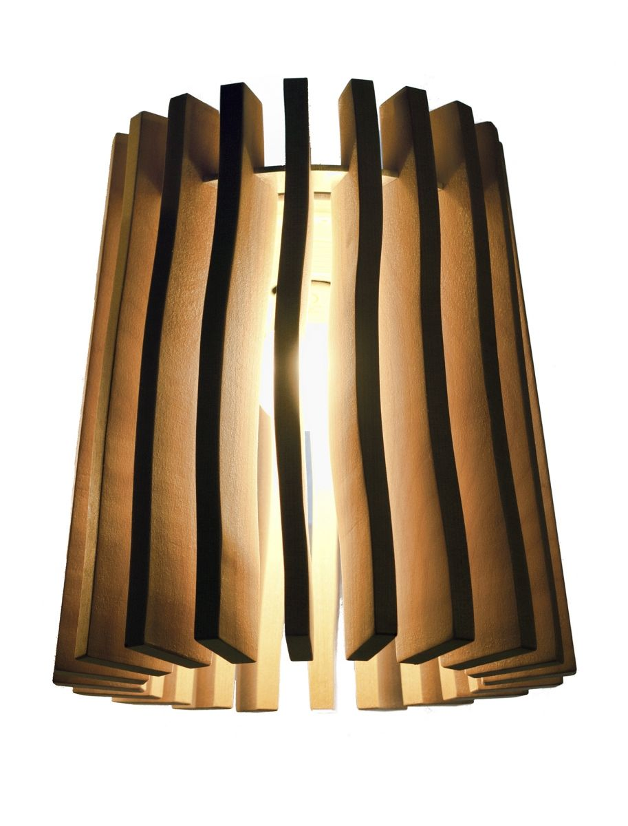 "Our wooden lamp called ""Wellamo"". Finnish birch"