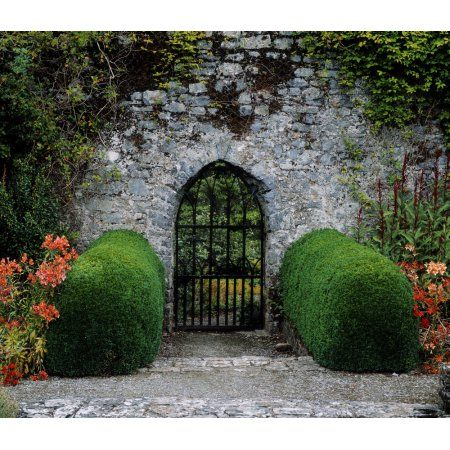 Gothic Entrance Gate Walled Garden Ardsallagh Co Tipperary Ireland Canvas Art The Irish Image Collection Design Pics 15 X 13 Walmart Com Gothic Garden Garden Wall Entrance Gates