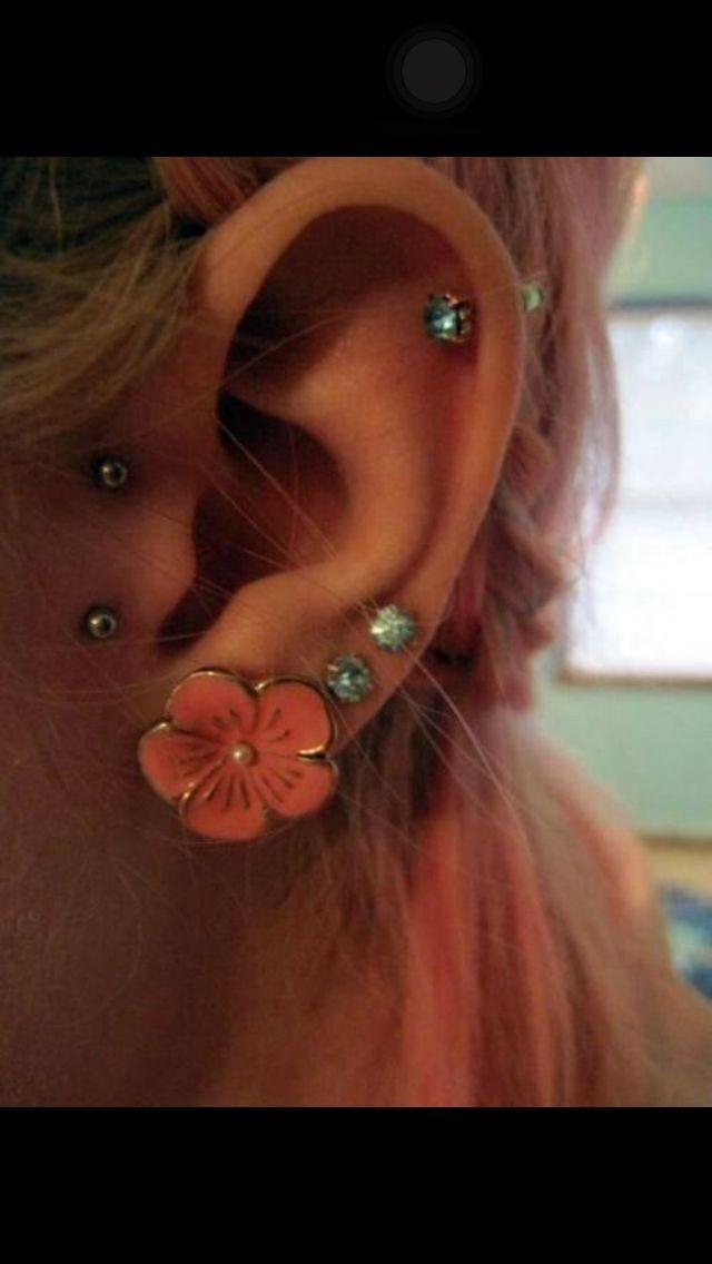 6 piercings for ear