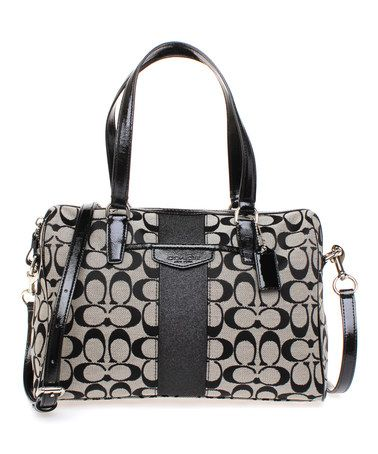 $229 Look what I found on #zulily! Black Signature Nancy Satchel #sponsored http://ow.ly/AMStG  #zulilyfinds