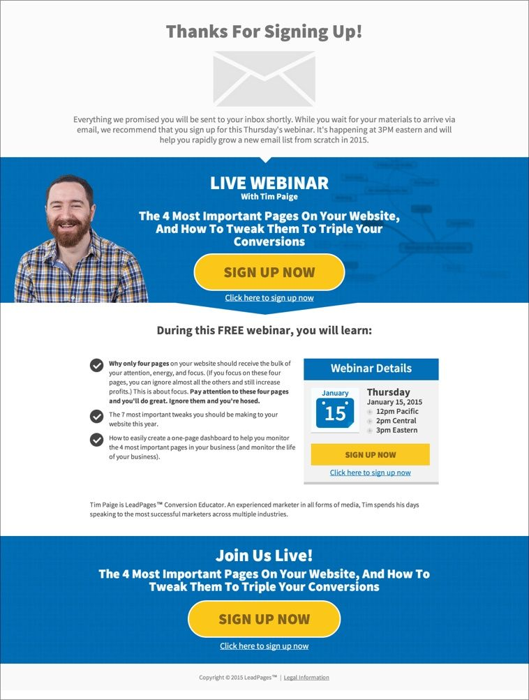 Infusionsoft LeadPages Steps Smarter Faster Landing Page   Email ...