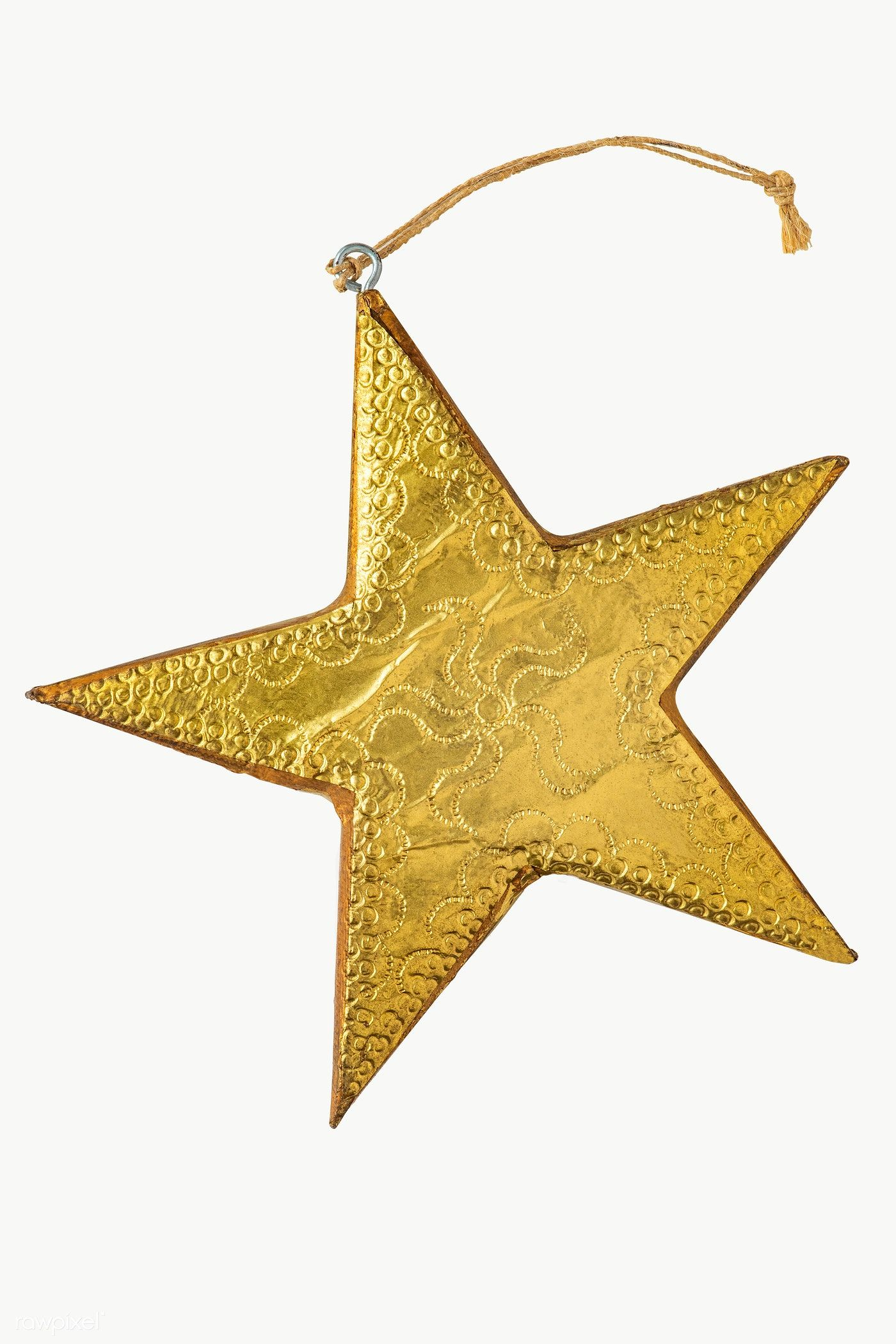 Download Premium Png Of A Gold Star Christmas Ornament On Transparent