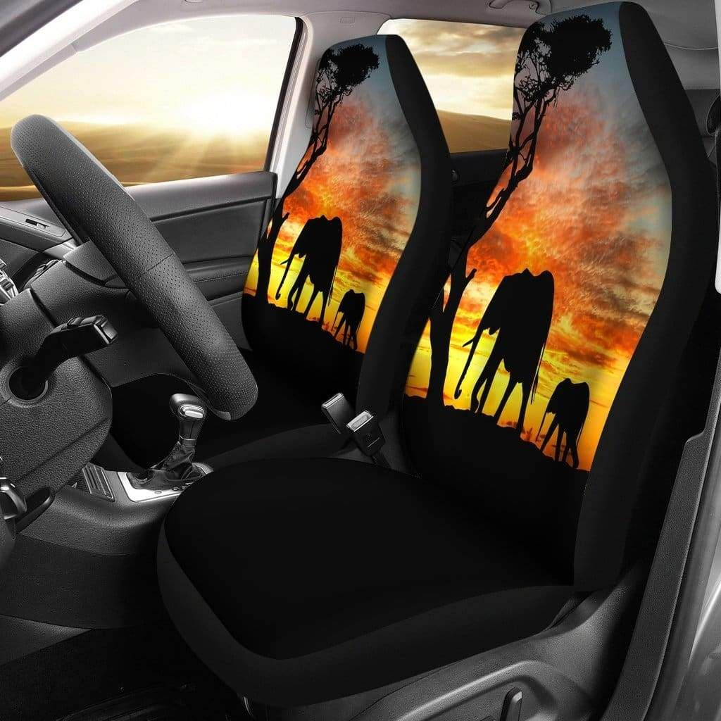 Elephant sunset car seat covers car seats seat covers