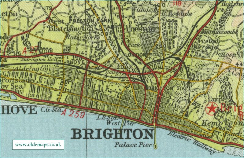Old Brighton Map MAPS Brighton Hove Pinterest Brighton
