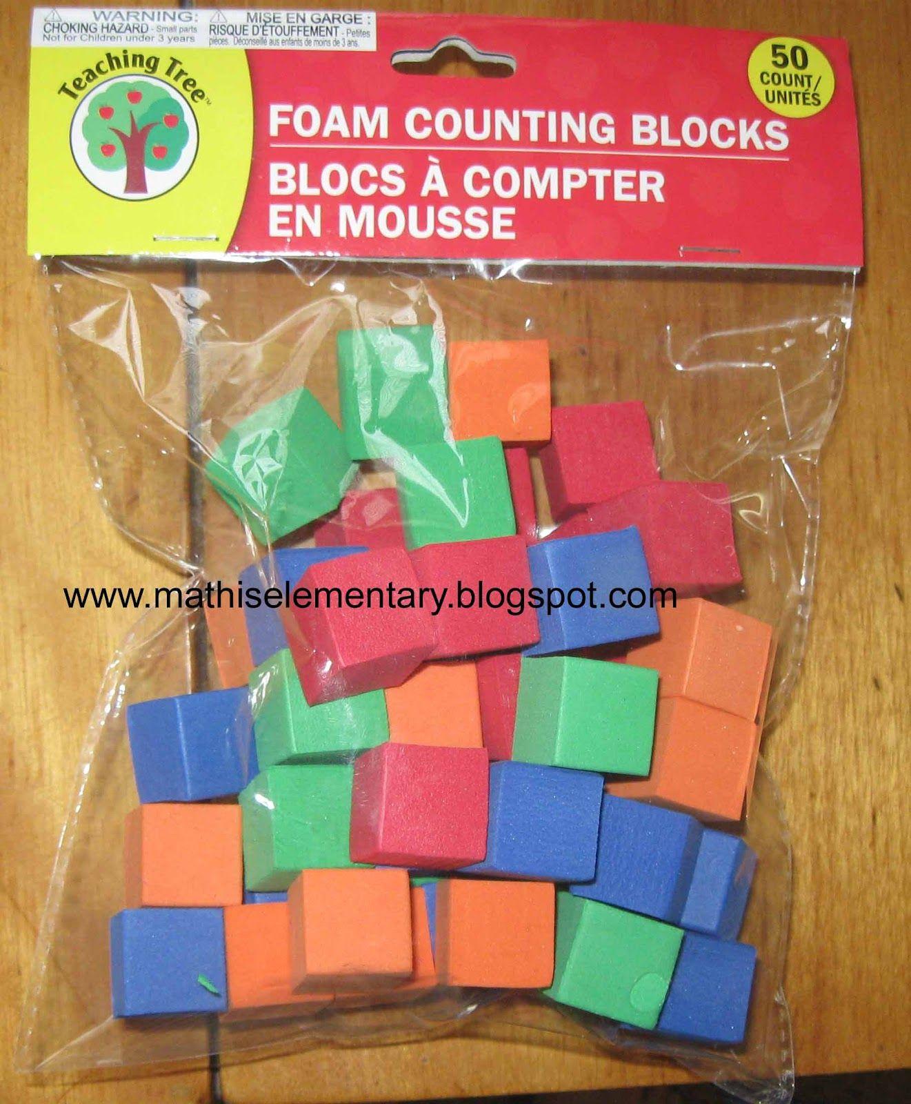 50 Foam Blocks For A Dollar At The Dollar Tree Perfect