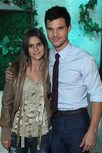 Taylor Lautner And His Little Sister Makena Family Siblings