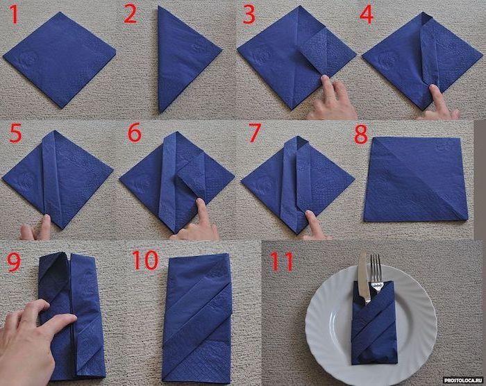 ▷ 1001 + ideas for Insta-worthy napkin folding techniques and tutorials #foldingnapkins