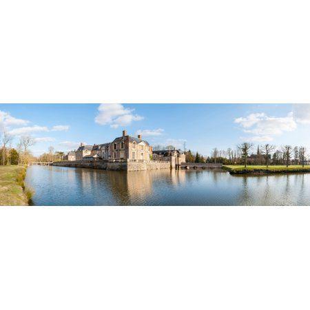 Chateau at La Ferte-Saint-Aubin Sologne Loiret France Canvas Art - Panoramic Images (36 x 12)