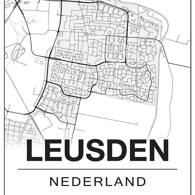 Ook Leusden staat op de kaart! Nog 2 A4 prints op voorraad ...