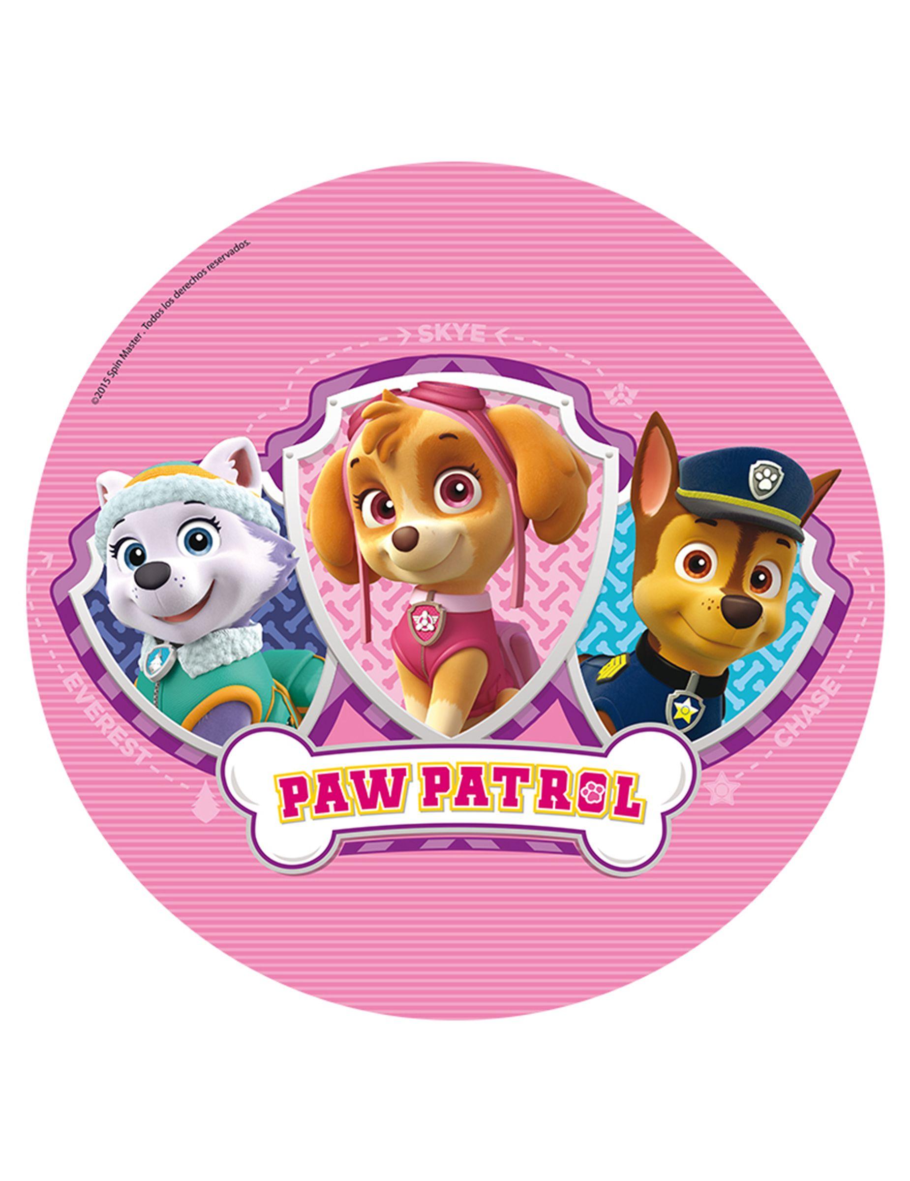 paw patrol™ oblate  pfote patrouille geburtstag