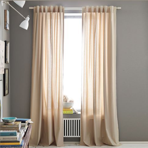 Cotton Canvas Window Panel 34 96 Light Flax 39 108 Chelsea Gray Canvas Curtains Grey Walls